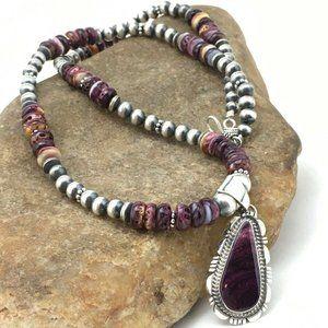 Jewelry - Women's Gift Navajo Purple Necklaces Pendant Ln 20